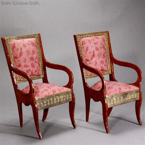 fashion doll house furniture antique dolls house furniture pair of early doll