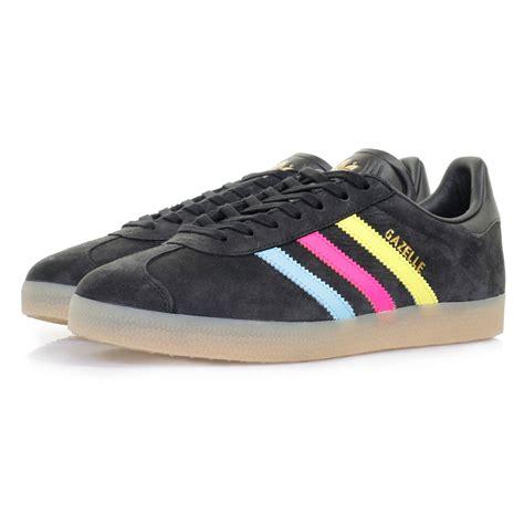 adidas gazelle black adidas gazelle sneakers black cyan suede shoe