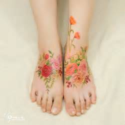 what to put on a fresh tattoo flower tattoos mimic watercolor paintings on skin bored