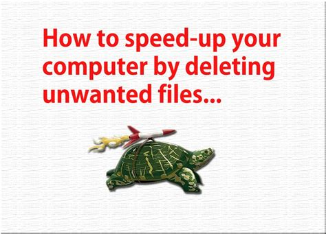 how to speed up your computer heyrichmeister how to speed up your computer by deleting temporary files
