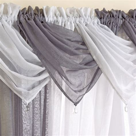 gray swag curtains glitter sparkle voile swag grey silver tonys textiles