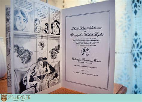 Comic Themed Wedding Invitations