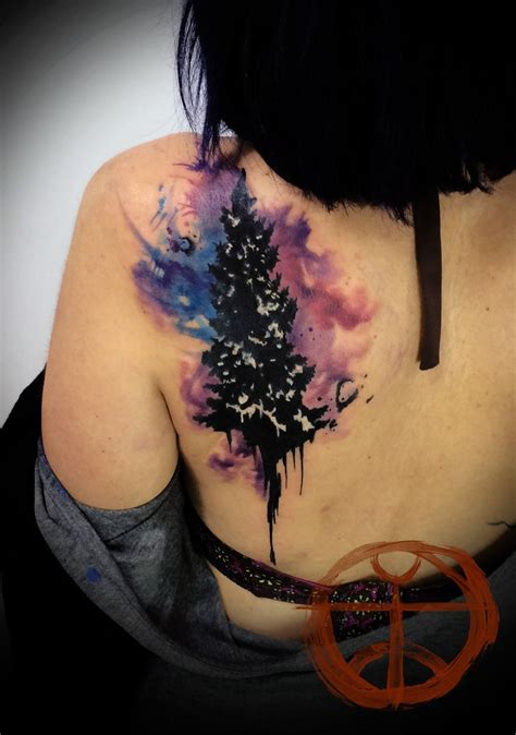 watercolor tree by koraykaragozler tattooimages biz