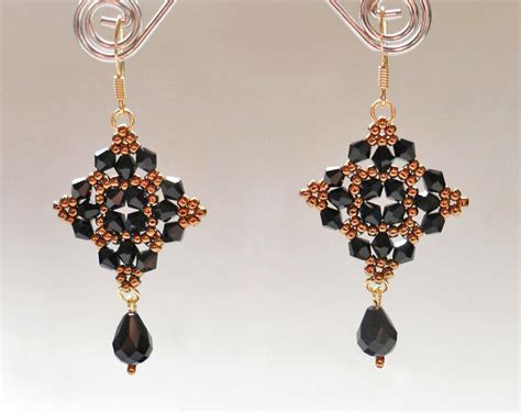 free seed bead earring patterns free pattern for beautiful beaded earrings magic