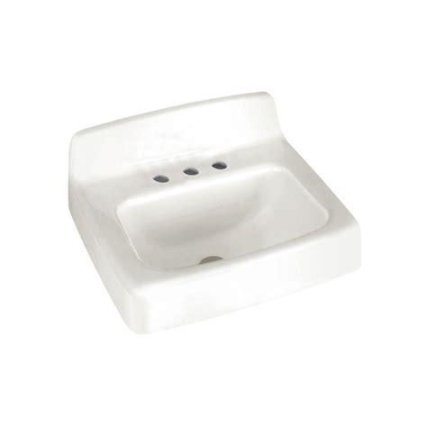 wall hung sinks bathroom american standard regalyn wall hung bathroom sink in white