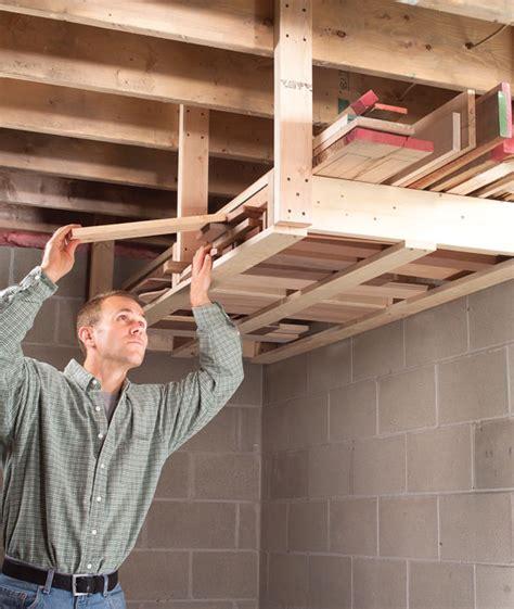 overhead lumber rack popular woodworking magazine