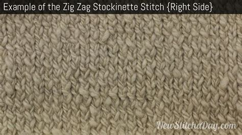 what is a stockinette stitch in knitting the zig zag stockinette stitch knitting stitch 180