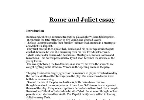 romeo and juliet theme essay questions help on romeo and juliet essay essay questions cliffs