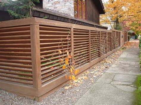Fencing Backyard Ideas Modern Fence Pictures And Ideas