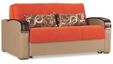 sleep  sofa bed  orange fabric  casamode woptions