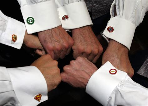 Superhero Cufflinks for the Groom, Best Man and Ushers