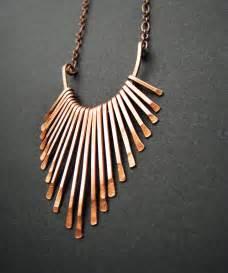 Copper Handmade Jewelry - copper necklace fringe freya design handmade copper