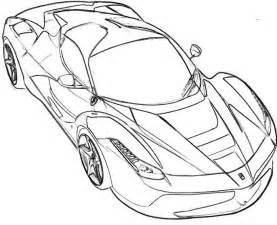 How To Draw A Laferrari Coloriages Des Transports