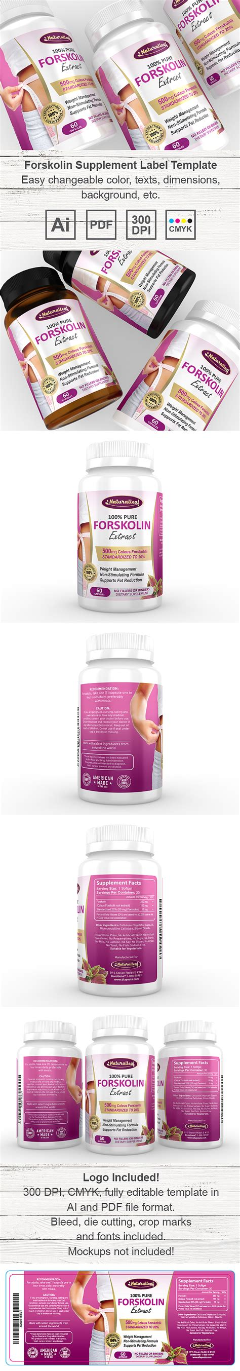 Forskolin Extract Supplement Label Template Supplement Label Template