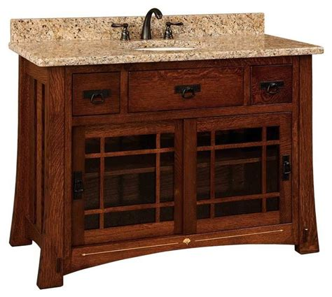 Craftsman Bathroom Vanity Bathroom Vanity Craftsman Bathroom Vanities And Sink Consoles By Amish Showroom