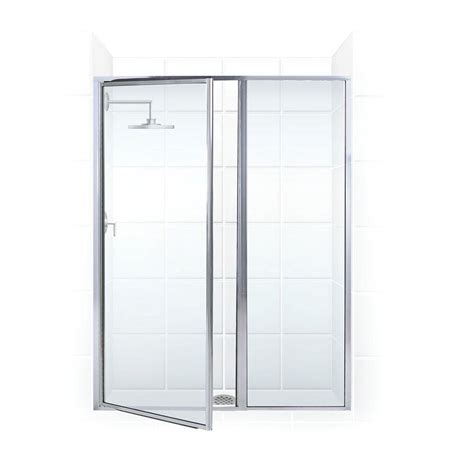 Shower Door And Panel Coastal Shower Doors Legend Series 52 In X 66 In Framed Hinge Swing Shower Door With Inline