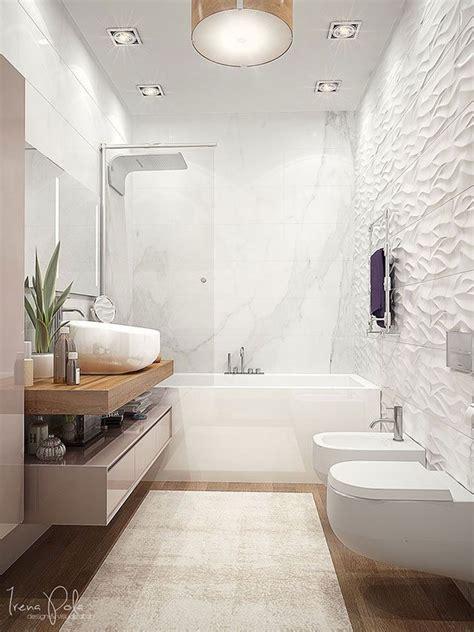 banos blancos modernos grandes pequenos  en madera banos blancos modernos decoracion de