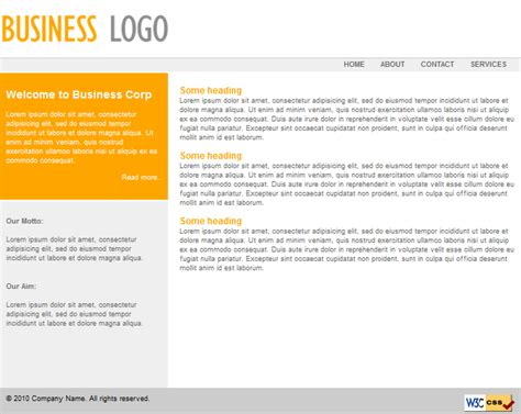 free small business website templates free expression web template for small business saffron