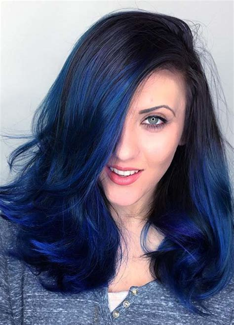 blue hair colors 100 hair colors black brown