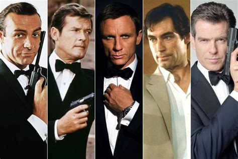 actors who played bond in chronological order
