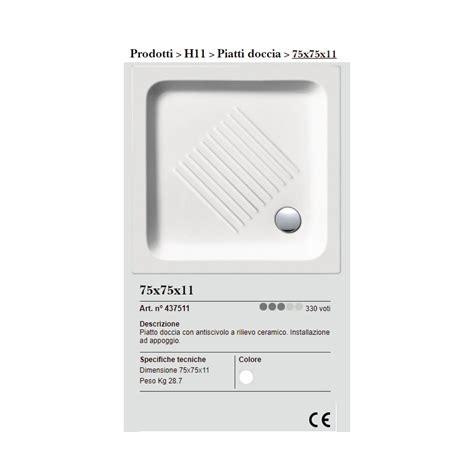 piatto doccia gsi gsi piatto doccia gsi 75x75 cm quadrato in ceramica