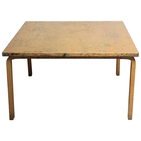 Birch Dining Table Alvar Aalto For Artek Birch Card Dining Table At 1stdibs