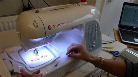 Mesin Jahit Singer Futura Ce 250 embroidery using the singer xl 400 sewing machine