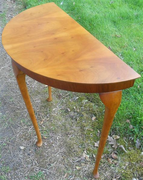 Yew Wood Console Table Yew Wood Half Console Table