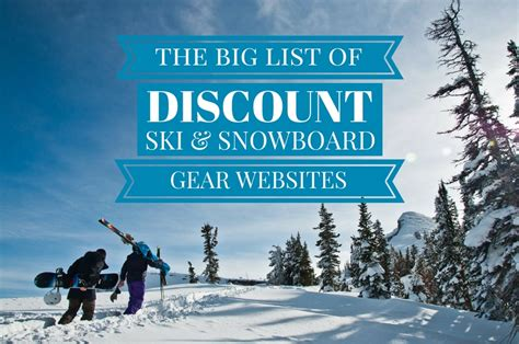 the big list of discount ski and snowboard gear shops