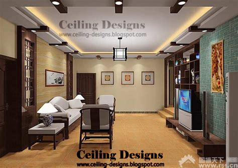 Wooden False Ceiling Designs For Living Room by Ceiling Designs