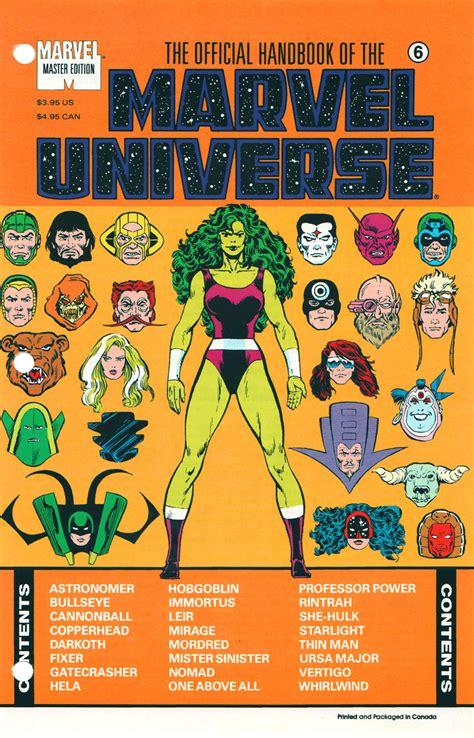 Master Vol 6 1 official handbook of the marvel universe master edition vol 1 6 marvel database fandom