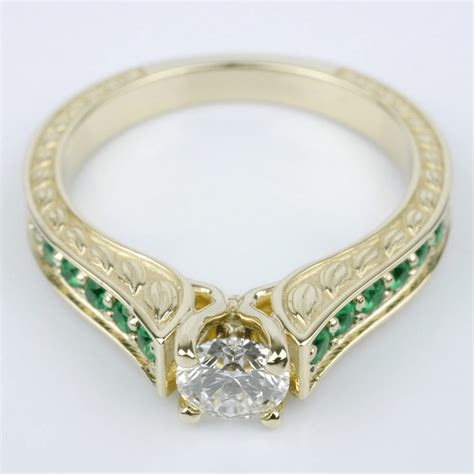 Wedding Rings With Birthstones by Custom Engagement Rings With Birthstones