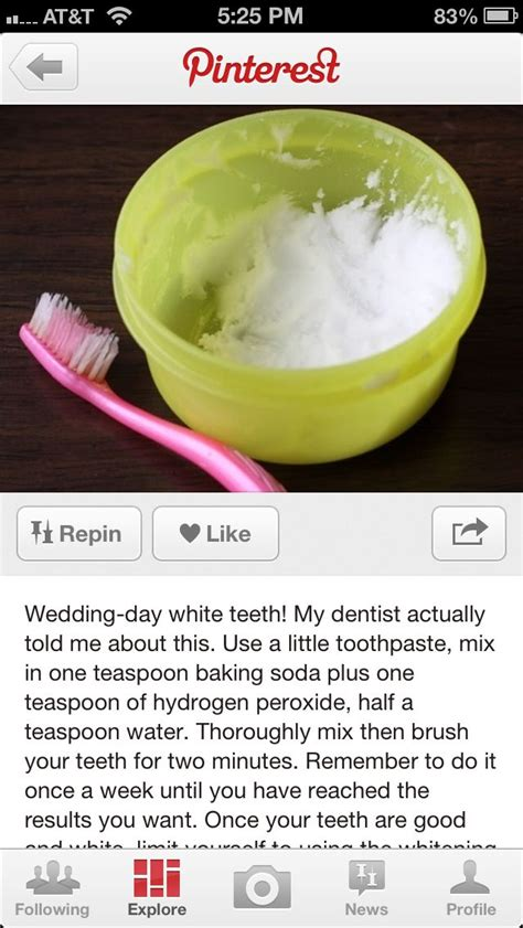 teeth whitening lemon juice and baking soda