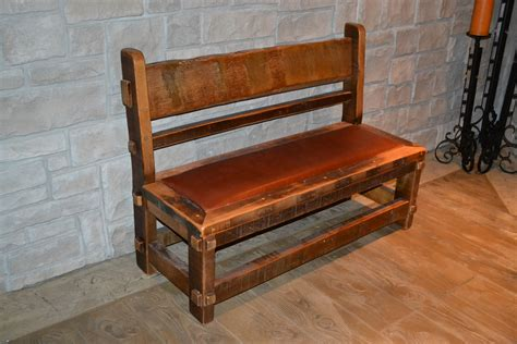 barnwood bench rustic barnwood bench with backrest of astonishing wooden