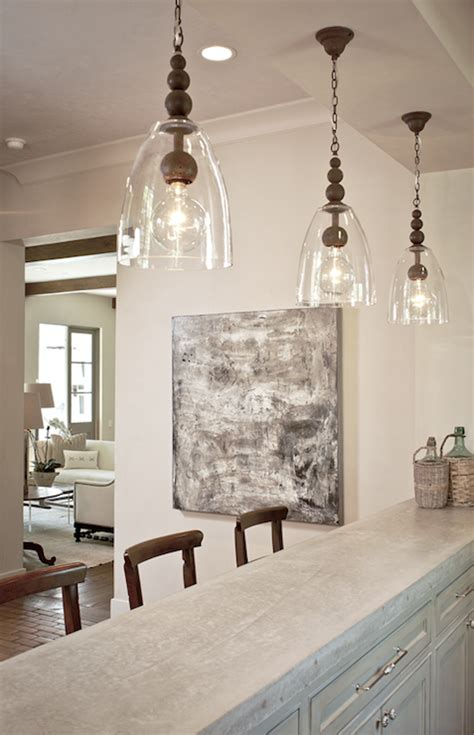 hanging lights for kitchen bar concrete countertops transitional media room the