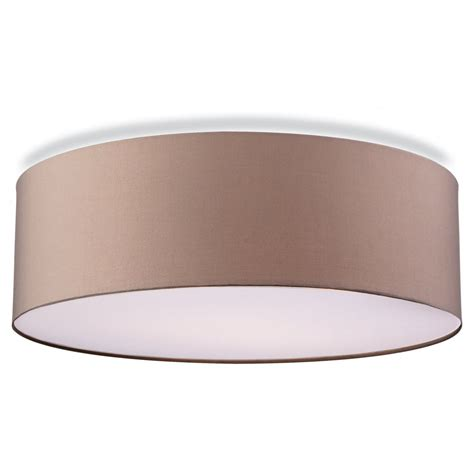 Contemporary Ceiling Lights Contemporary Flush Ceiling Light In Taupe Finish