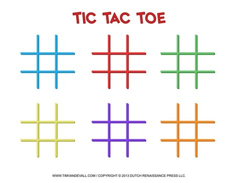 Tic Tac Toe Template tim de vall comics printables for