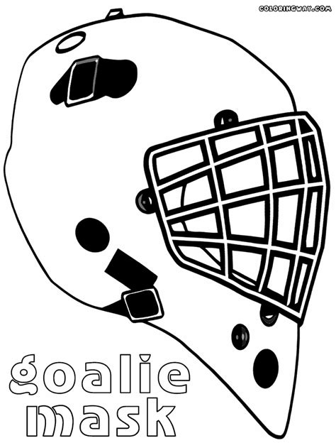 printable goalie mask hockey goalie helmet coloring page diannedonnelly com