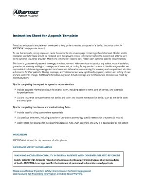 printable sample template   appeals letter  formally review  complaint fillable