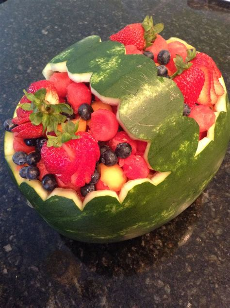 watermelon boat watermelon boat with scalloped edge party ideas pinterest