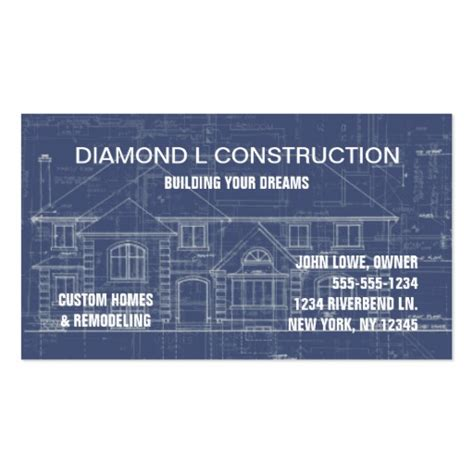 construction business card template construction business card zazzle