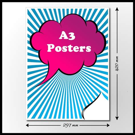cheap a3 poster printing for same day or next day uk