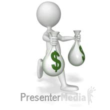 Running With Money Bags Presenter Media Free
