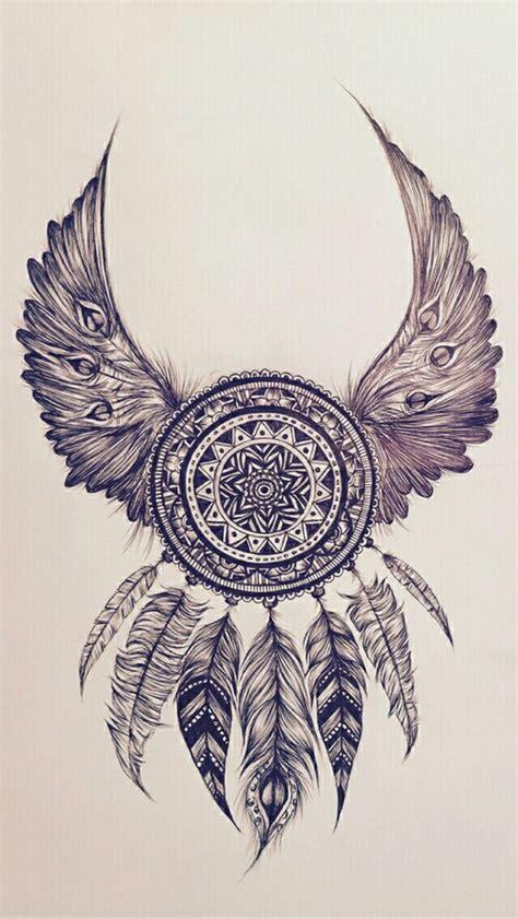 tattoo dreamcatcher wings beautiful dream dreamcatcher feathers tattoo want it