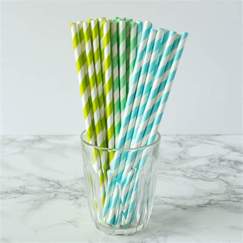 Striped Paper Straws striped paper straws by berylune notonthehighstreet