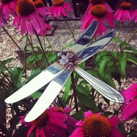 out of silverware dragonfly made out of butter knives silverware