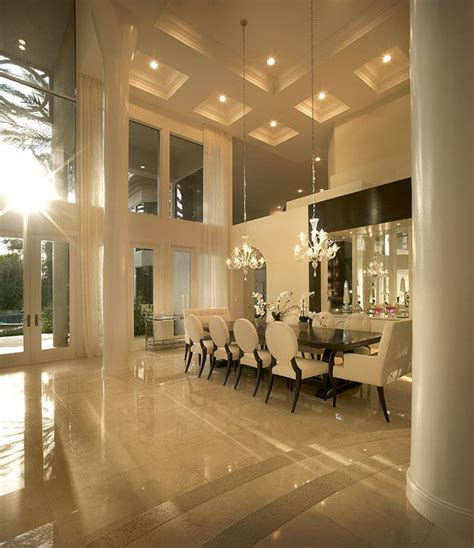 High Ceiling Dining Room Design 17 Best Ideas About Luxury Home Designs On