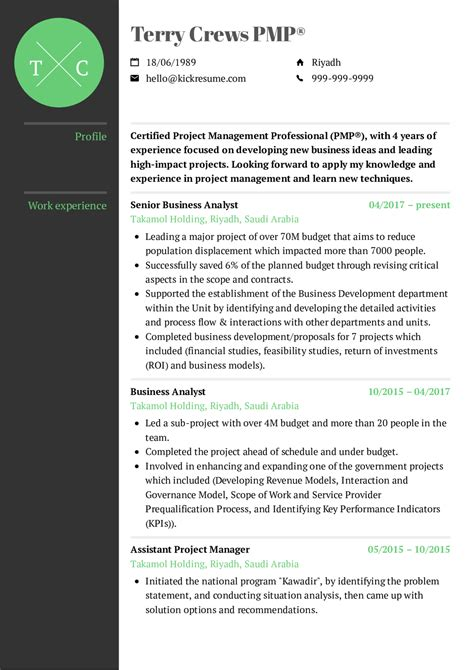 Resume Exles By Real People Project Manager Cv Exle Kickresume Program For Managers Template