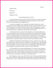 How To Write A Autobiography Paper Biography Essay Template