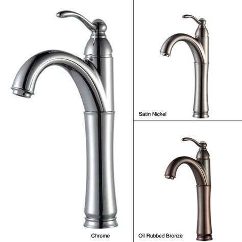 kraus rivera bathroom vessel filler faucet overstock